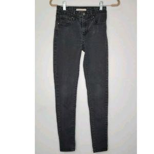 Levi's Size 25 721 High Rise Skinny Black Jeans St